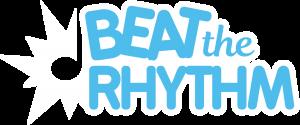 C'est le logo de l'application beat the rhythm avec une petite explosion de notes sur le côté. Il est en bleu.